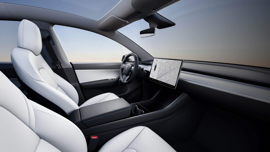 Фото интерьера Tesla Model Y