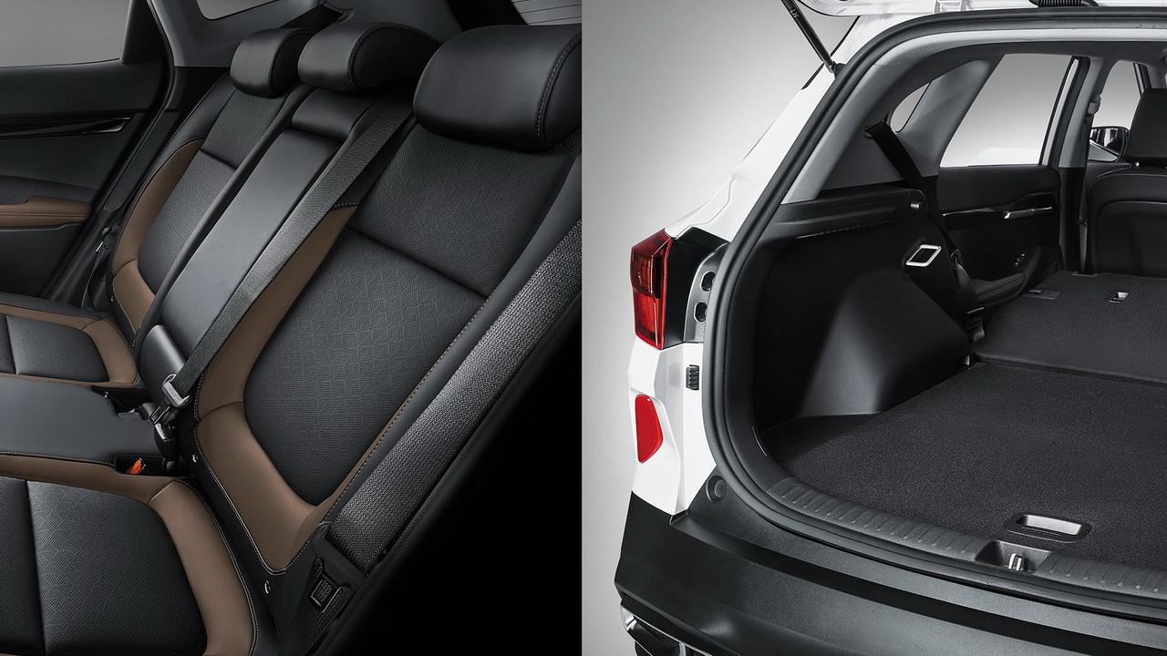 Задние сиденья и багажник