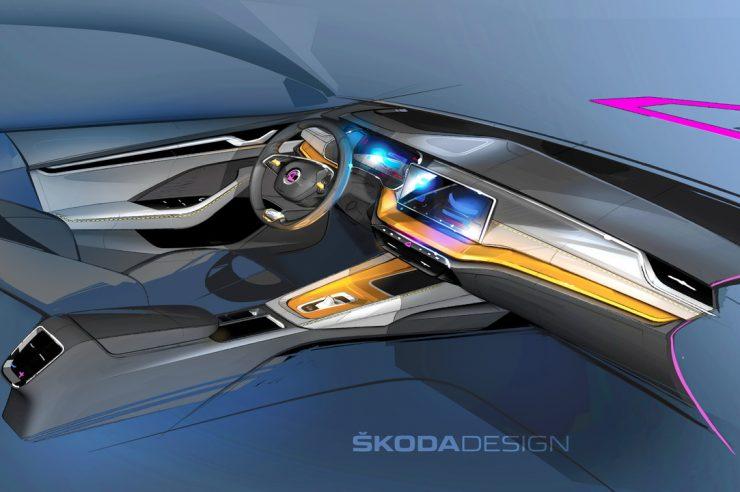 Новая Skoda Octavia – первое изображение интерьера модели