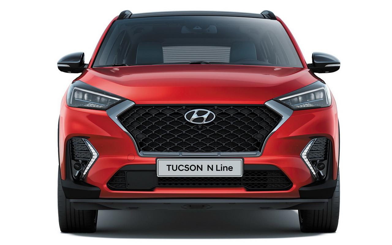 Фото Hyundai Tucson N Line вид спереди