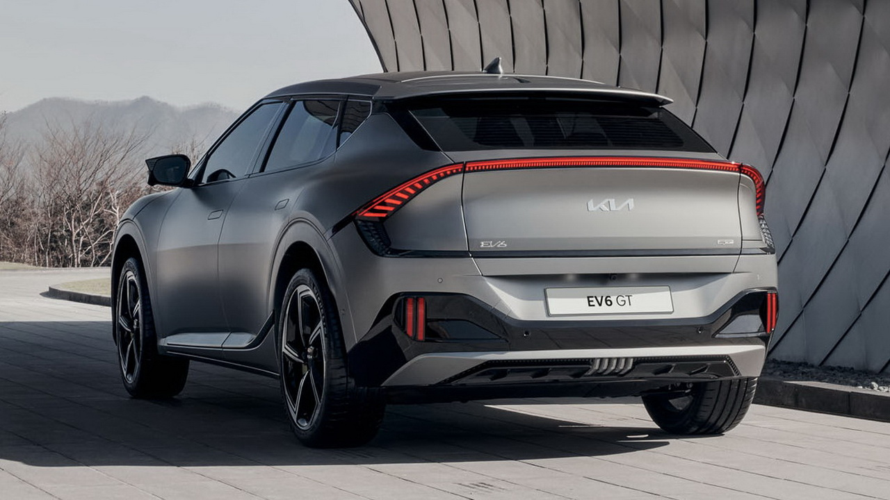 Дизайн кормы Kia EV6 GT