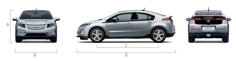 Габаритные размеры Chevrolet Volt