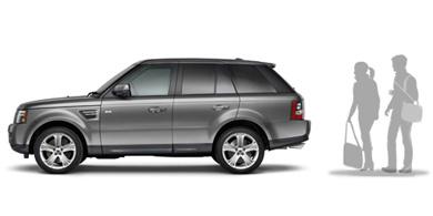 Объем багажника Range Rover Sport