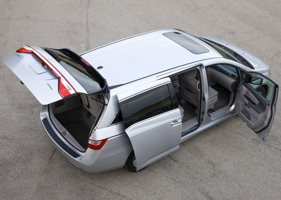Honda Odyssey 2011 вид сверху