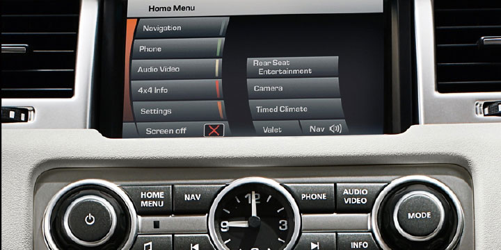 Сенсорный экран Range Rover Sport