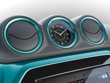 Оригинальные часы и дефлекторы системы вентиляции в новом Сузуки Витара