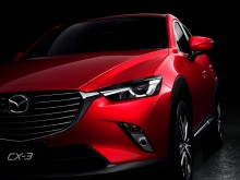 Дизайн передней части кроссовера Mazda CX-3 2015-2016