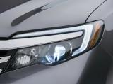 Раскосая передняя оптика Хонда Пилот фото