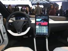 Передняя панель Tesla Model X фото