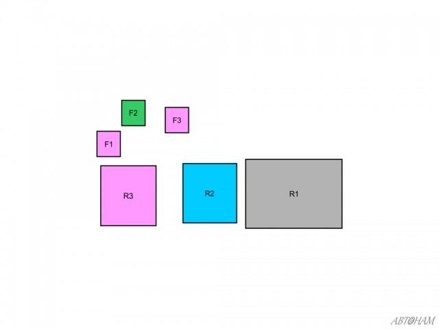 Схема блока А предохранителей в салоне Тойота Королла 150