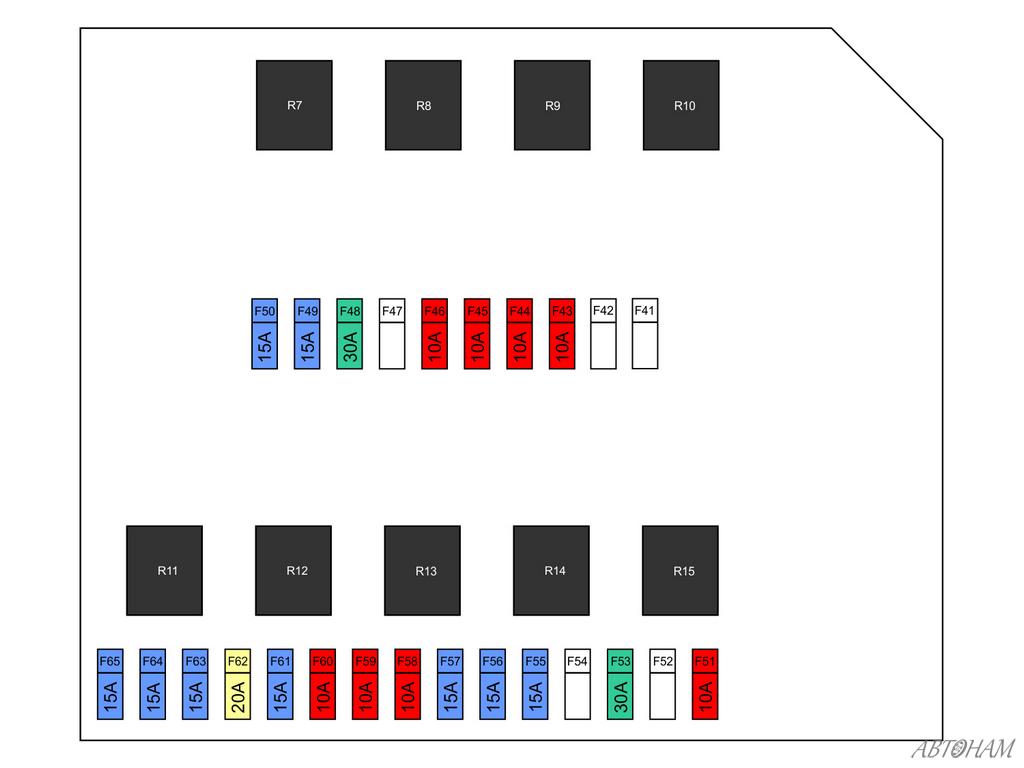 схема предохранителей на corolla 2007