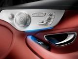 Элементы управления на обшивке двери Mercedes C-Class 2016-2017 Coupe