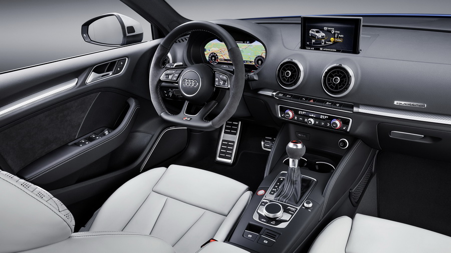 Хэтчбек Audi RS3 Sportback 2017-2018 года - фото, цена, характеристики нового Ауди РС 3 Спортбэк рестайлинг