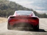 Новый Tesla Roadster вид сзади