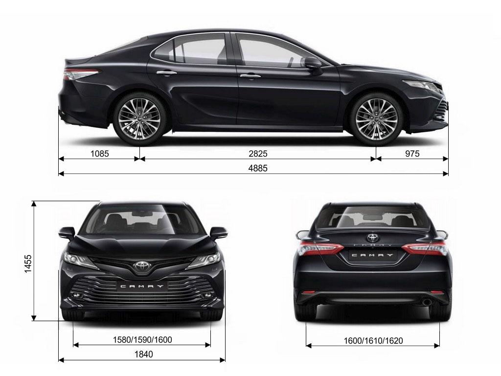 Размеры кузова Тойота Камри 8-го поколения