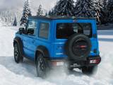 Suzuki Jimny голубой цвет фото кормы